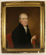 18th To Early 19th American Academic Portait Panel Minister New Testament Bible