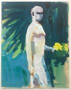 1964 Paul Wonner Painting On Paper Standing Figure Bay Area Figurative