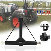 3 Point 2inch Receiver Trailer Hitch Tractor Tow Drawbar Adapter Heavyduty Steel
