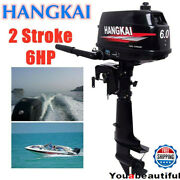 6hp 2stroke Heavy Duty Outboard Motor Boat Engine Water Cooling Systemandcdi