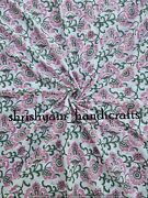 By The Yard Block Print Fabric India Cotton Fabric Natural Dye Cotton Sewing