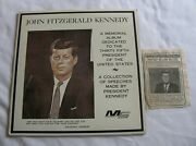 John F Kennedy Collection Of Speeches Memorial Album Record And Enquirer Excerpt