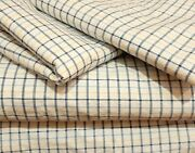 Vintage  Sheets - Full - Blue White Checked Cotton - Set Of 4