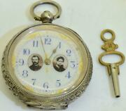 Rare Antique 19th Century Imperial Russian Silver Ladies Pendant Watch1860and039s.