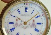 Rare Antique Imperial Russian Silver Ladies Pendant Watch,1860's.fancy Dial