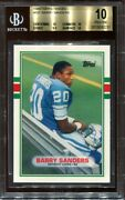 1989 Topps Traded Barry Sanders 83t Rookie Rc Bgs 10