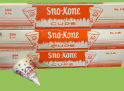 Snow Cone Cups 3 Boxes Of 200 Heavy Duty Sno-kone 6oz Cup Gold Medal