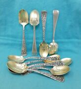 10 Towle Sterling Arlington Ice Cream Spoons 5 3/8 No Mono Floral Pattern
