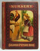 Antique Nursery Colored Picture Book Victorian Childrenand039s Mcloughlin Bros C1880