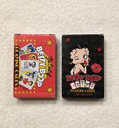Lot X2 Decks Betty Boop Playing Cards King Features 1998 And 2010