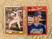 Collection Of 22 Nolan Ryan Baseball Cards From The 1990s. Near Mint Condition
