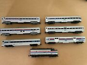 Amtrak Ho Train Set - 1 Athearn Engine And 6 Related Passenger Cars