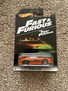 Hot Wheels The Fast And The Furious Toyota Supra Orange Mint Condition Rare
