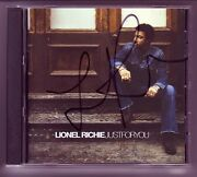 Lionel Richie Signed Cd Justforyou Cover