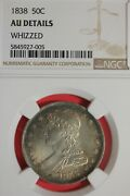 1838 Au Details Whizzed Capped Bust Half Dollar Ngc Certified Authentic Oce 49