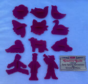 12 Days Of Christmas Cookie Cutter Set Vintage 1978 Chilton Kraft Complete Clean