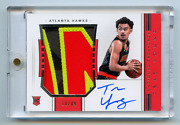 2018-19 National Treasures Rookie Patch Auto Horizontal Trae Young Rc /49 Sick