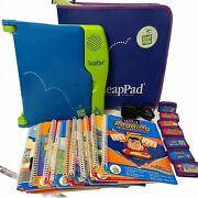 Leap Pad Pro Learning System Reading Science Math 7 Cartridges 11 Books Tested