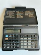 Texas Instruments Ti-65 Technical Analyst Calculator With Case Tested Works