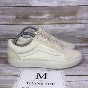 Off The Wall Suede Tips Womenandrsquos Size 9 Menandrsquos 7.5 Cream Shoes 721454 Laces