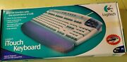 Vintage Logitech Itouch Keyboard Gray Wrist Rest Still Sealed Usb And Ps/2