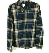 Off The Wall Long Sleeve Button Up Flannel Shirt Size Xl Blue Plaid