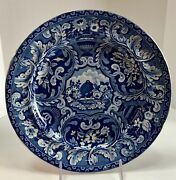 Early Staffordshire Transfer Ware Beehive Vases Plate 19th Century