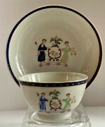 Chinese Export Lowestoft New York Arms Tea Cup Bowl Saucer C. 1790