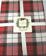 Ridgefiled Home Plaid Holiday Tablecloth Redgreen And White Cotton 60 X 84 Oblong