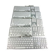 Lot Of 5 Oem Apple Mb110ll/a Wired Usb Slim Full Size Keyboard