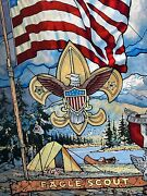 Boy Scout Beautiful Stained Glass Eagle Scout Presentation Award - Stunning