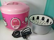 Pink Hello Kitty 8 Cup Rice Cooker App-43209 Tested And Working