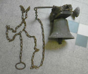 Exterior Bell For School Or Residence In Cast Iron Early Twentieth With...