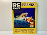 Pranks Re/search Book Softcover 1987 John Waters Jello Biafra Timothy Leary