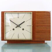 Hermle Mantel Top Clock Iconic Vintage High Gloss 1965 Serviced Chime Germany