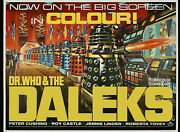 Dr Who And The Daleks Uk Quad Concept Repro Poster 30 X 40