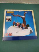 Lemax Animated Christmas Village Accessory Tire Swing Twirl In Box New
