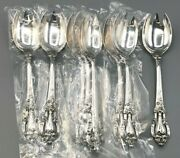 Eloquence By Lunt Sterling Silver Set Of 8 Ice Cream Spoon/fork 6