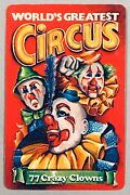 1 Playing Swap Card - World's Greatest Circus - 77 Crazy Clowns [307]