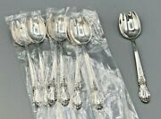 Brocade By International Sterling Silver Set Of 8 Ice Cream Spoon/forks 5.75