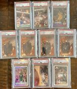 10-card Graded Wholesale Lot Of Shaq Duncan Mcgrady Iverson Dirk Invest Rc