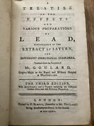A Treatise On The Effects Of Lead And Extract Of Saturn Mr Goulard 1772 Rare
