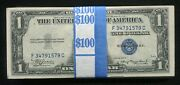 100 1935 1 One Dollar Blue Seal Silver Certificates Uncirculated