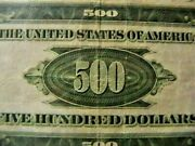 1934 A 500 Dollar Federal Reserve Note Serial G0339492a