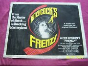 Frenzy Original 1972 1/2 Sht. 28x22h Movie Poster Alfred Hitchock - Mystery