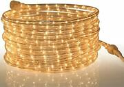 Rope Light Warm Clear 24 Feet 7.3 M For Indoor And Outdoor Use 10mm Diameter