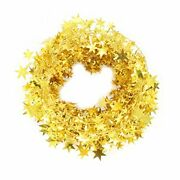 Christmas Tinsel Gold Star Wire Garland Tree Decorations 2 Pcs X 25 Ft