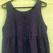 Vintage Maternity Empire Style Purple And Black Dress/jumper Size 6/8