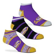 Lsu Tigers Cash Money No-show Ankle Socks 3 Pairs - Size Large 10-13