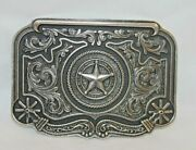 New Montana Silversmiths Belt Buckle Attitude Texas Starspur Rowels Only One